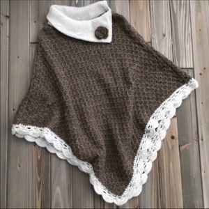 Sweaters - Cotton Poncho Small
